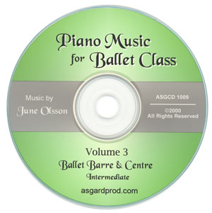 Piano Music for Ballet Class Vol 3 Intermediate CD