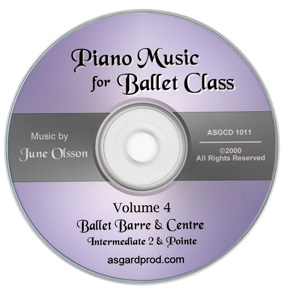 Piano Music for Ballet Class Vol 4 Intermediate II & Pointe CD