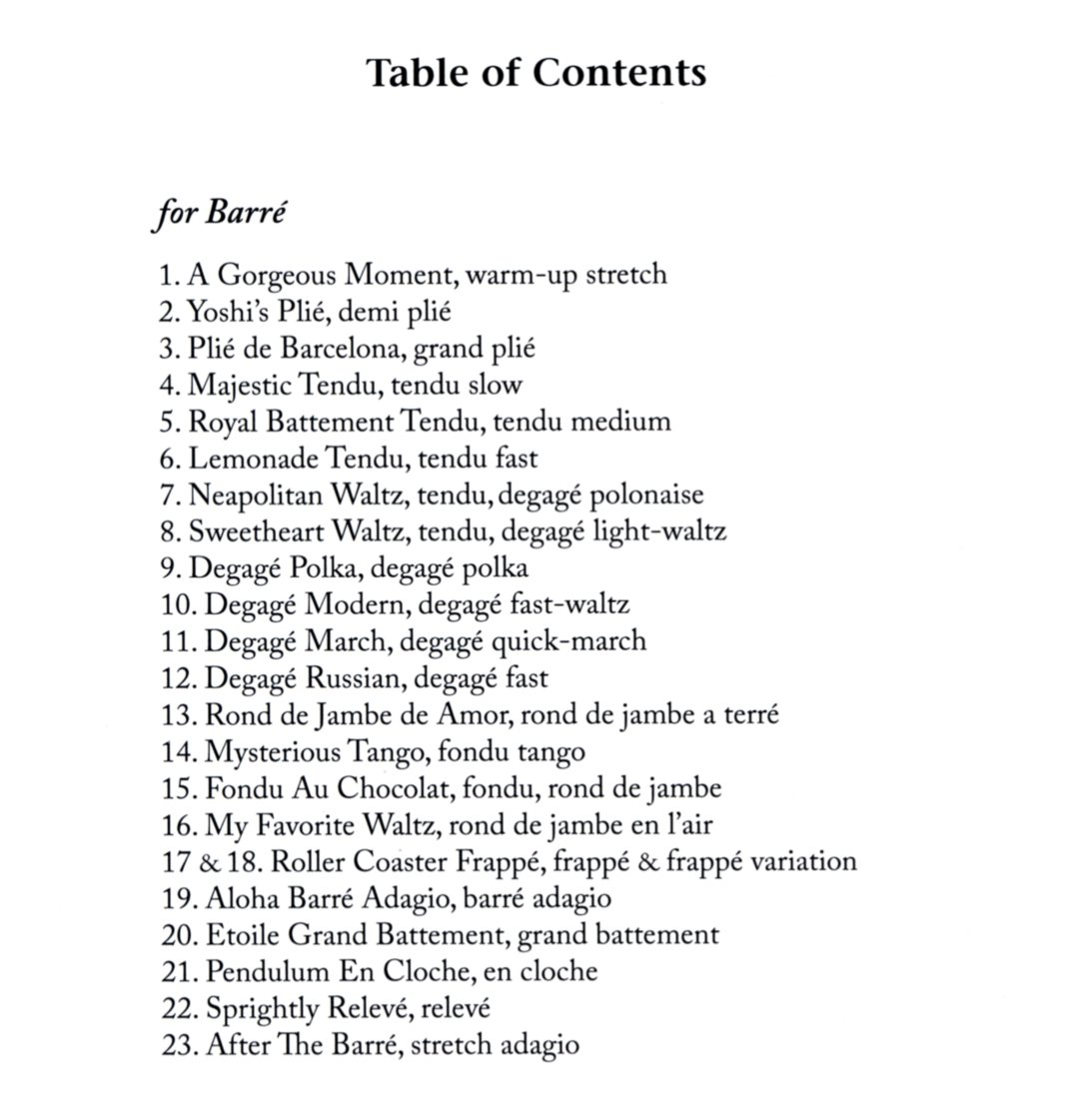 Marina Surgan - Live Sheet Music Book Contents