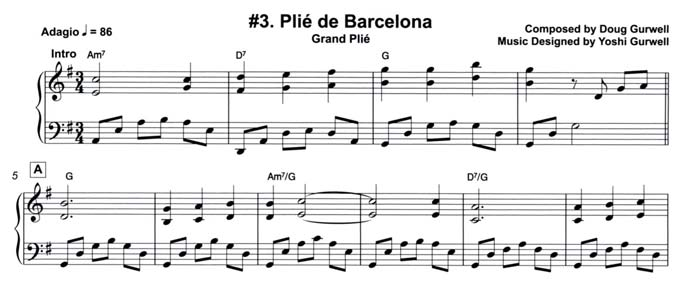 Plie combination from Music for Ballet Lovers Vol 6