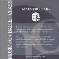 Music for Ballet Class by Maestro Gary - CD cover