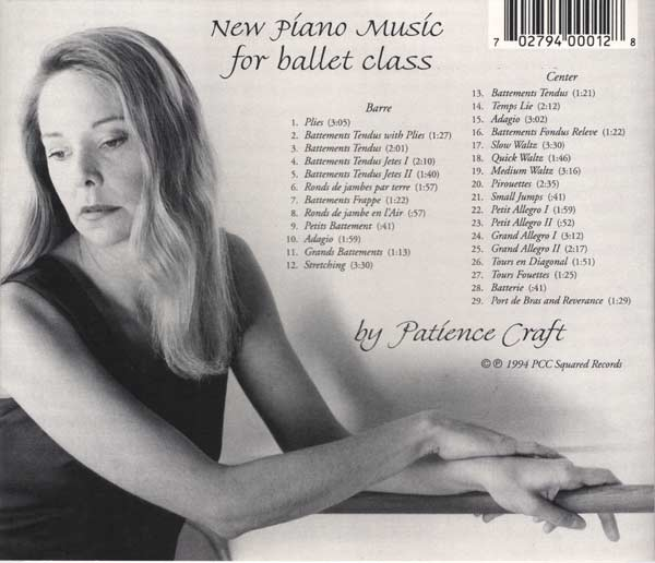 New Piano Music for Ballet Class -  CD backcover