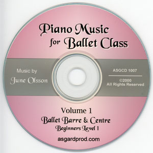 Piano Music for Ballet Class Vol 1 CD